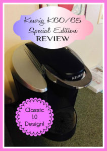 keurig k60/65 special edition review