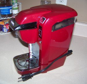 keurig k10 mini brewer red